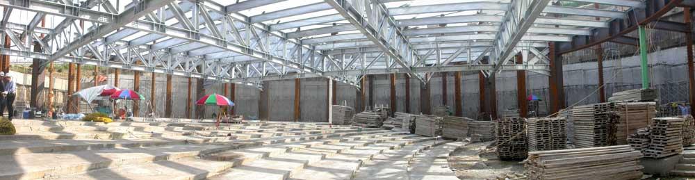 现代风格钢结构造型大厅