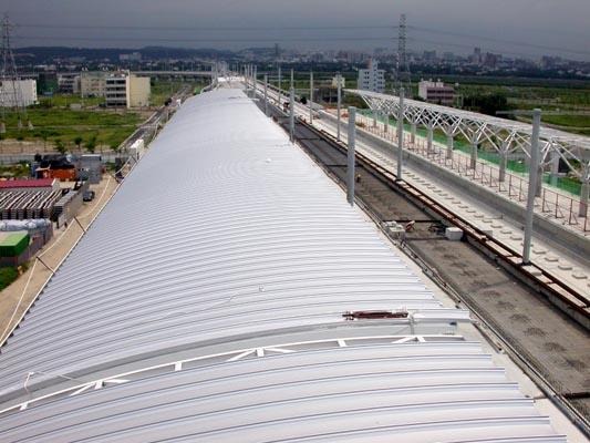 高鐵新竹站-月台金屬屋面版工程-1
